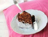 Simple cake with jam