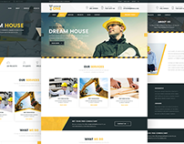 Constructor One – Construction PSD Template