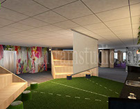 3D Corporate Office Design View