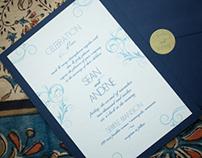 Wedding Invitation for Sean & Andene