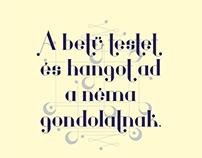 Zene - typography poster contest