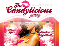 Candylicious party flyer
