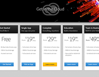 Creative Cloud Plans page redesign concept