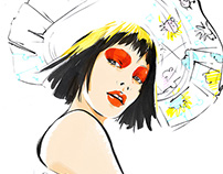 Illustrative report from NY FW for Vogue.ru