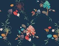 Ropa de cama con motivos florales