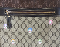"""3 Ring"": Hand Painted Gucci Mail Bag"