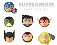 Superheroes - Flat Design