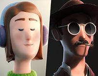 3D Character Illustrations No.1