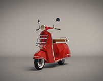 Low Poly Vespa