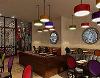 Beautifully Designed 3D Restaurant Interior Design View