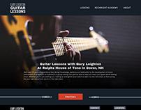 Website Design for Gary Leighton Guitar Lessons