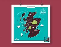 Stones & Chardons - Travel map of Scotland