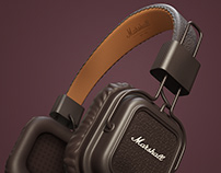 Marshall Headphone 3D Modelling & Render