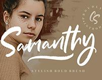 SAMANTHY STYLISH BRUSH SCRIPT - FREE FONT