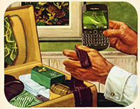 BlackBerry 1940s Magazine Advertisement