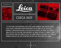 Leica History Web Design