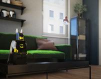 Batman in flat, Czech