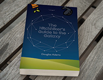 The Hitchhiker's Guide to the Galaxy Book Cover Design