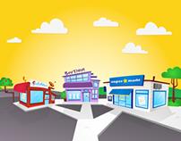 Shops   Background Illustration