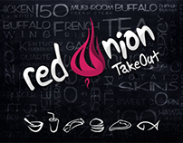 RedOniOn TakeOut Fast FOod Branding