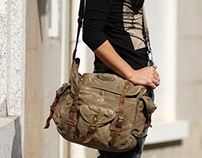 rugged canvas messenger bags and backpack at notlie.