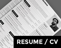 Resume/CV Template - MS Word and Photoshop formats