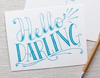 Hello Darling Postcard