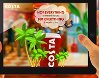 "Costa caffee egypt Augmented Reality App ""concept"""