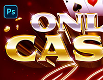 [PSD] ONLINE CASINO LOGO AND TEXT EFFECT
