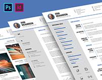 CV Resume Template (3-Piece)