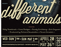 THEATRE POSTER: Different Animals