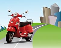 Pubblicita' concessionaria Moto&Bici by ARTE IN SCATOLA
