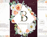 Botanical Watercolor Floral set