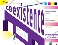 The coexistence of mathematical graphic design