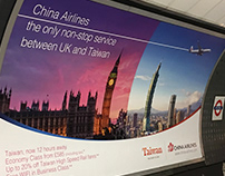 China Airlines UK adverts