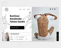 Tattoo Studio Concept UI/UX Design