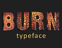 Burning wood typeface
