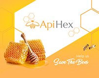 ApiHex (Save the Bees) promo materials design
