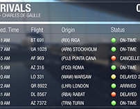Flight schedules - mockup