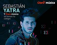 Sebastían Yatra y Claro Música se toman tu Colegio