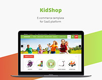 Kids shop/E-commerce template/Web design/UI/UX