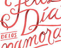 Lettering for Valentine's Day