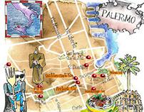Italy art maps - Palermo- Emiglia Rmana-Tuscany