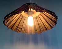 Strzecha lampa z tektury / Thatched roof cardboard lamp