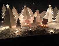 Christmas Ident! Paper cut animation. For Channel V