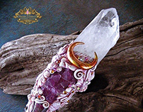 HAIL APHRODITE Magic Crystal Horn Wand
