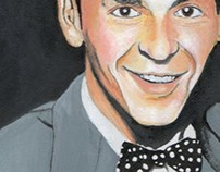 Painting Of Young Frank Sinatra