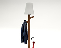Project No.5 / Rack Coat & Umbrella Stand Lamp