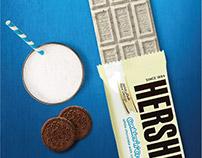 Print ads for Hersheys cookies n creme.
