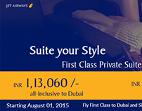 Jet Airways promotional banner